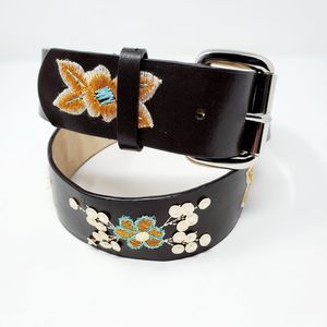 Sonoma Life+Style Embroidered Sequin Leather Belt